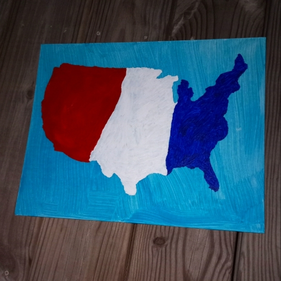 Essential America Red White and Blue Painting New
